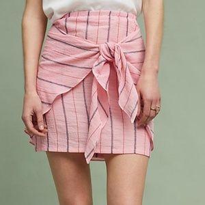 Anthropologie Holding Horses Mini Striped Skirt